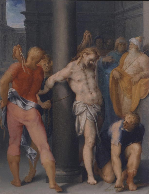 "BARTHOLOMAEUS  SPRANGER - ""The Flagellation of Christ"" 