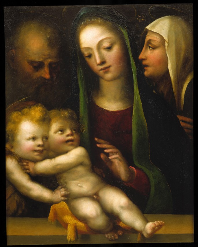 "DOMENICO  BECCAFUMI - ""The Holy Family with the Infant Saint John the Baptist"" 