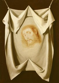 "FRANCISCO  DE ZURBARAN - ""The Veil of Saint Veronica"" 
