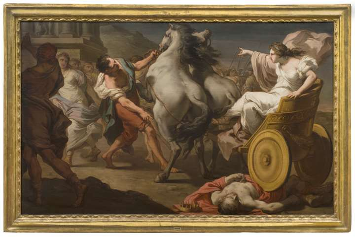 A Pair: Tullia Driving over the Body of Her Father Servius Tullius; The Death of Hector
