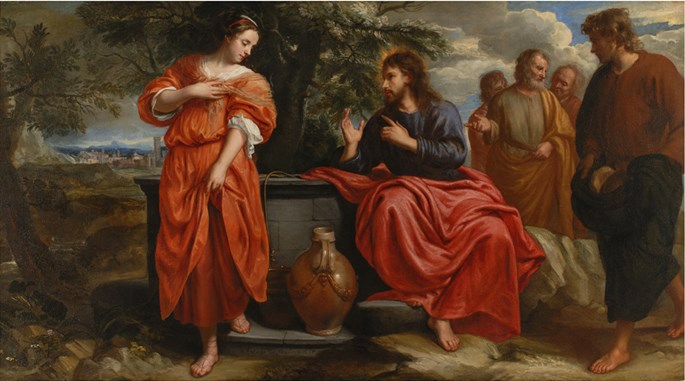 "JACOB  VAN OOST - ""Christ and the Samaritan Woman at the Well"" 