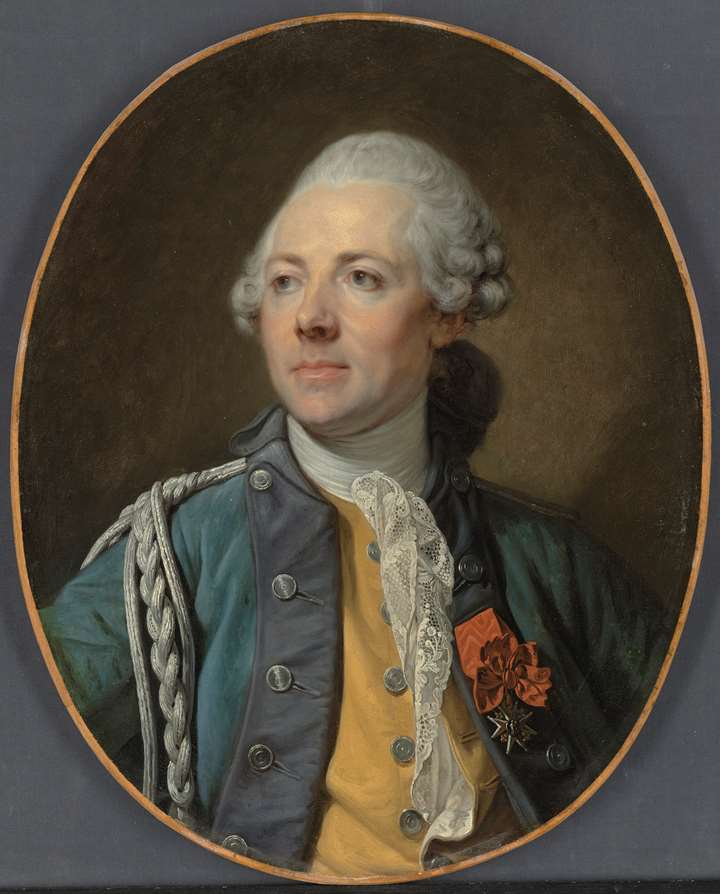 Portrait of The Marquis Teyssier des Farges, of Dragoon Regiment No. 12 of the French army, half-length, in uniform, wearing the Order of Saint Louis