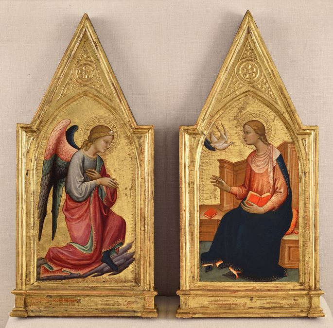 Lorenzo di Niccolo - The Angel of the Annunciation and the Virgin | MasterArt