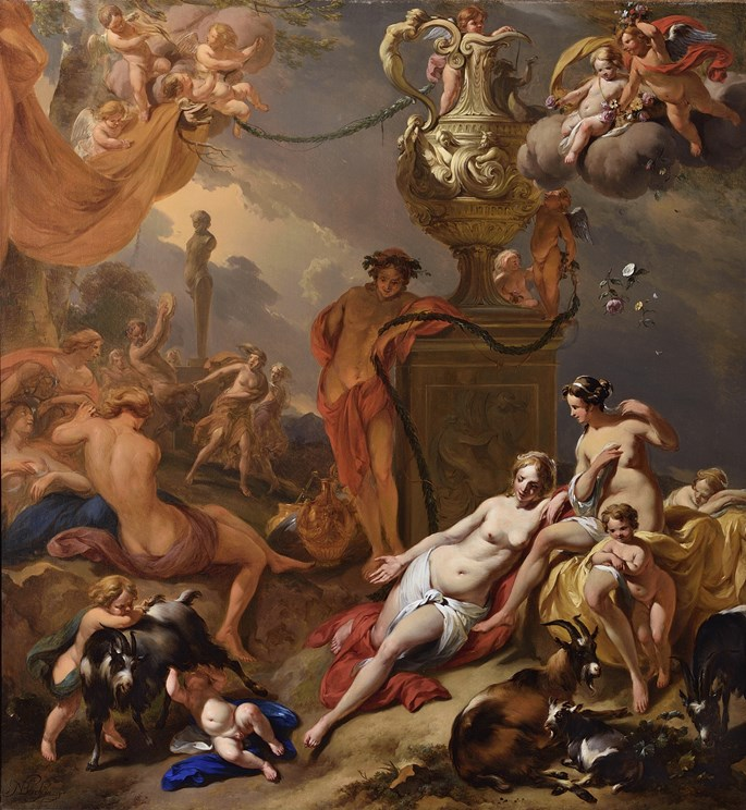 Nicolas Berchem - THE NURTURE OF JUPITER  | MasterArt