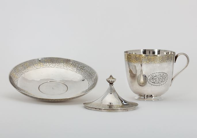 Commemorative Indian Silver Cup and Saucer | MasterArt