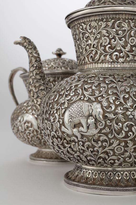 Silver Indian Teaset with Tray, Shamji Mukonji | MasterArt
