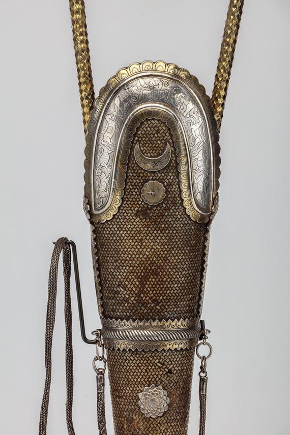 Basket Weave Quiver with Engraved Silver Gilt Mounts   MasterArt