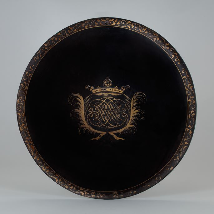 A Lacquered Shield with a European Coat of Arms | MasterArt
