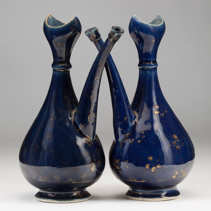 A Pair of Blue Porcelain Ewers Made for the Islamic Market | MasterArt