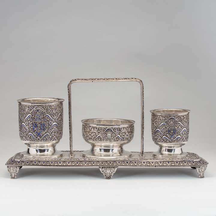 A Rare and Unusual Royal Silver Gift Commissioned by Pakubuwono X (r. 1893-1939), the 10th Susuhunan of Surakarta
