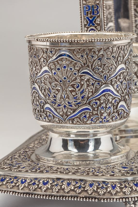 A Rare and Unusual Royal Silver Gift Commissioned by Pakubuwono X (r. 1893-1939), the 10th Susuhunan of Surakarta | MasterArt