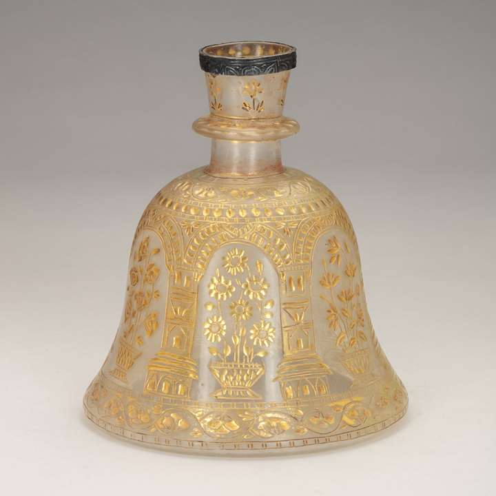 Bell-Shaped Glass Huqqa Base
