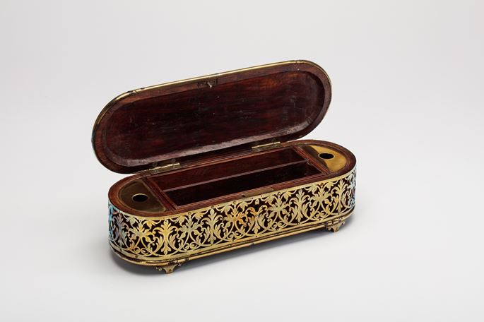 Brass and Rosewood Pen Box | MasterArt