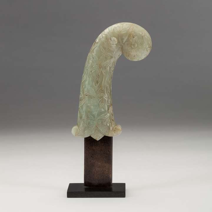 Carved Jade Dagger Handle