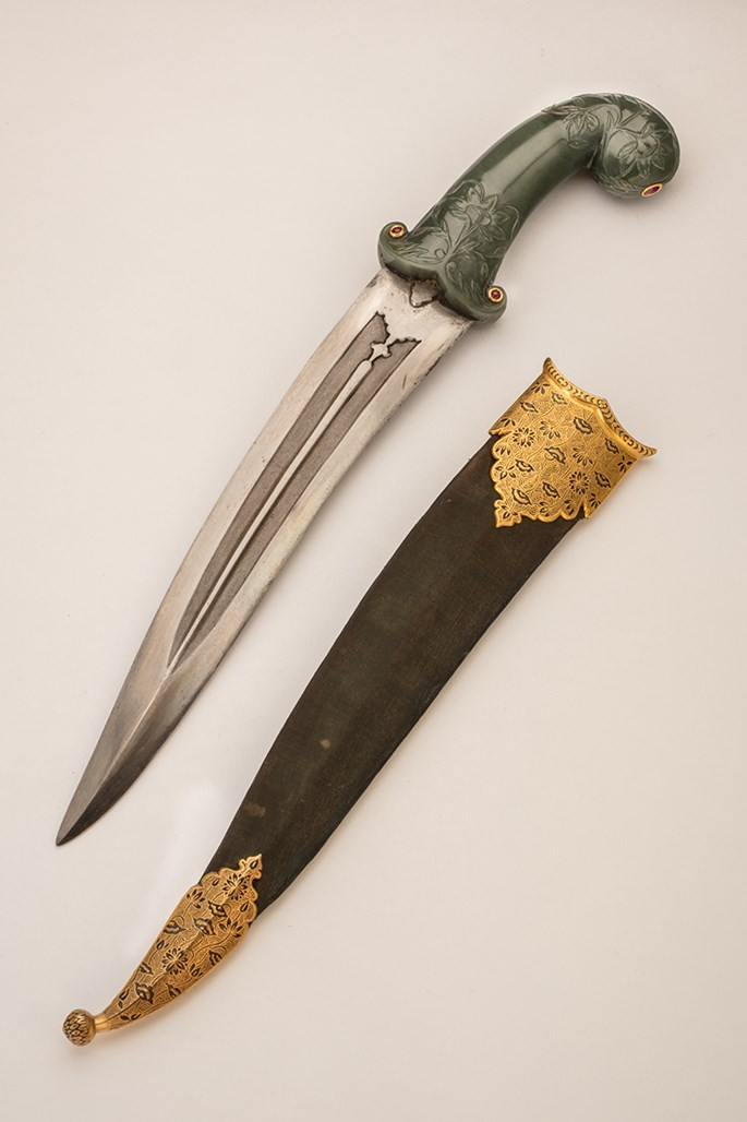 Dagger with a Jade Handle  | MasterArt