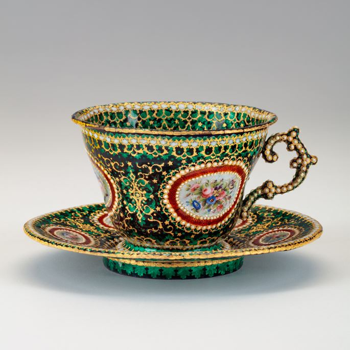 Enamelled Cup and Saucer | MasterArt