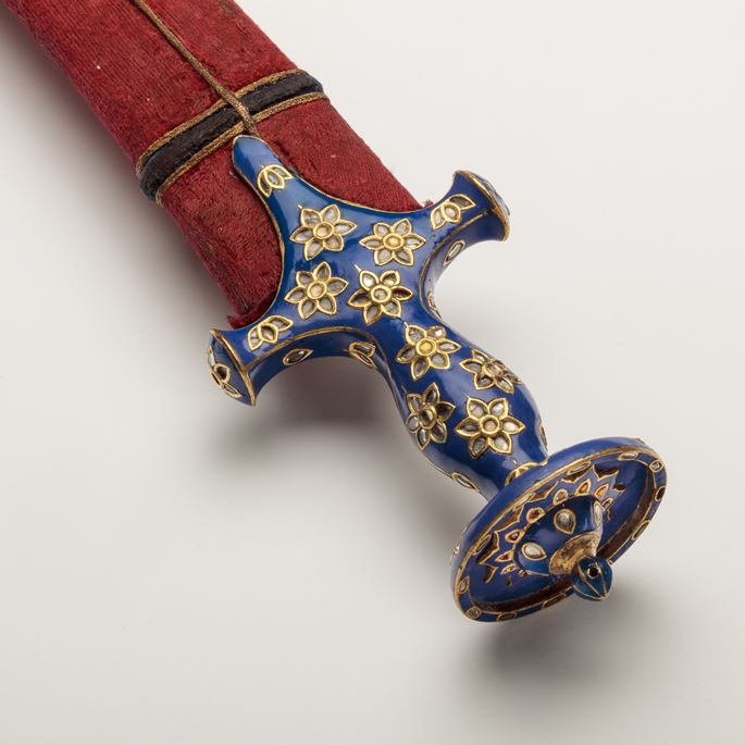 Indian Sword with Champlevé Enamelled Hilt | MasterArt