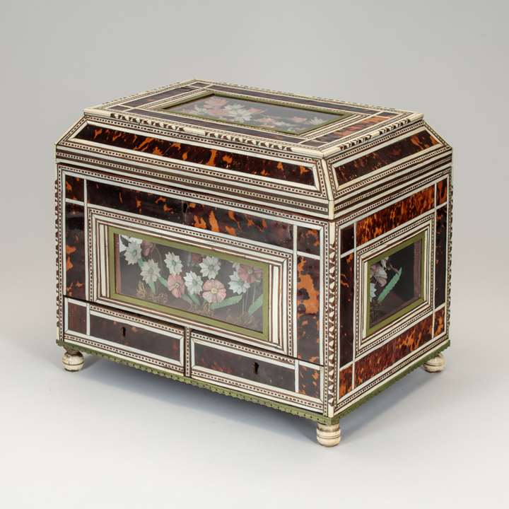 Indo-Portuguese Box with Flower Diorama
