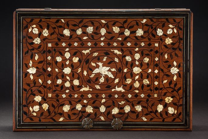 Ivory and Ebony Inlaid Document Box  | MasterArt