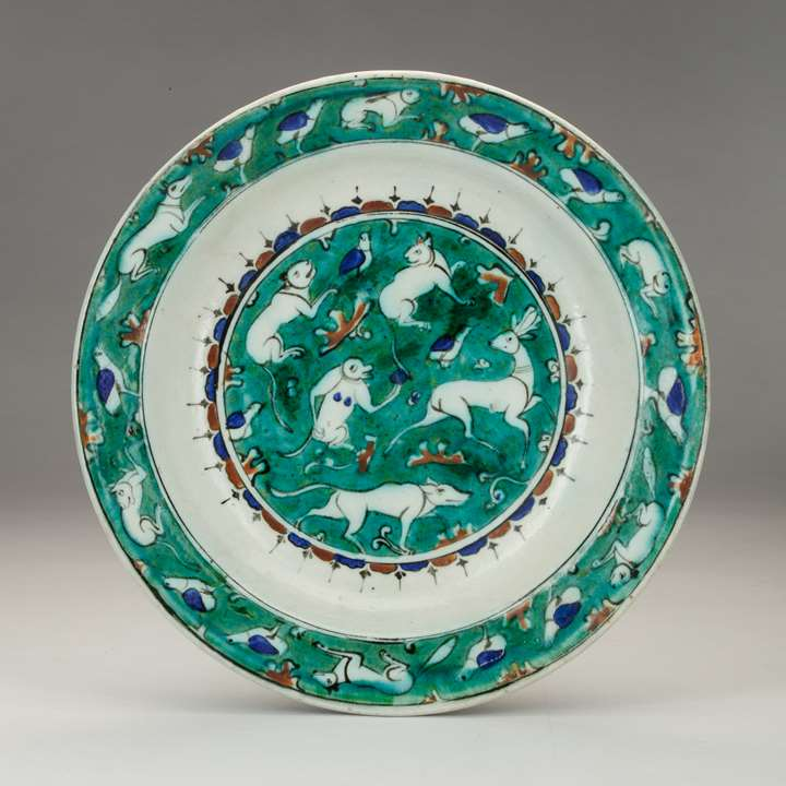 Iznik Dish Decorated with Animals