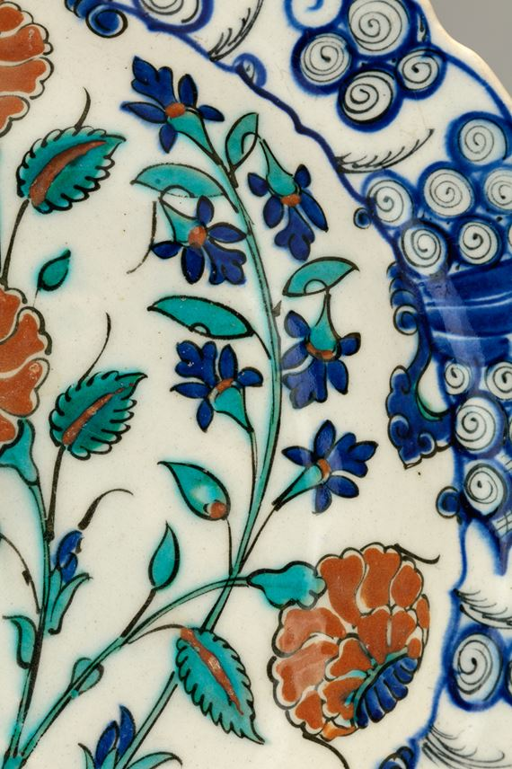 Iznik Dish Decorated with Roses and Hyacinths | MasterArt