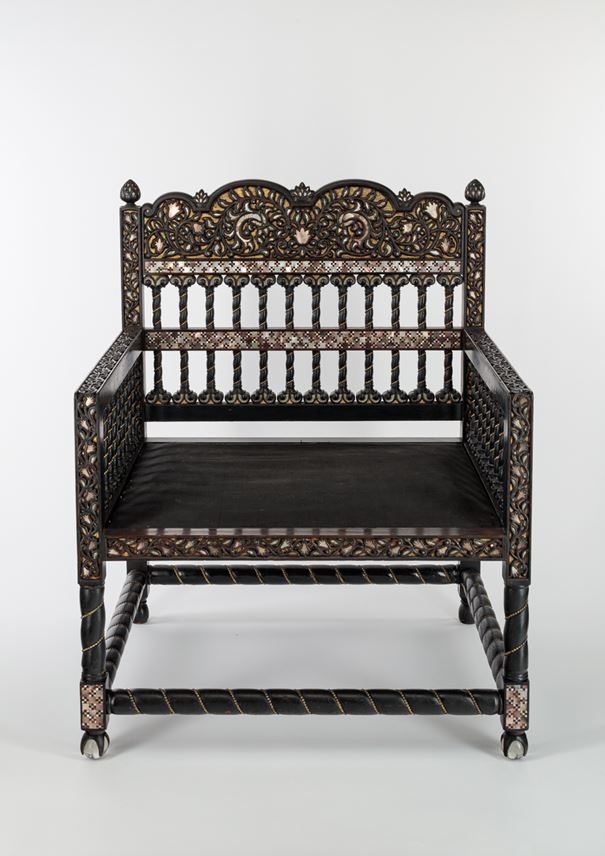 Mother-of-Pearl Ebony Chair | MasterArt