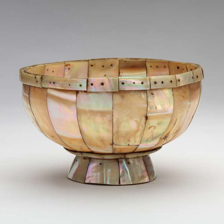 Mother-of-Pearl Footed Bowl