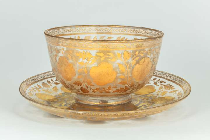 Mughal Bowl and Plate