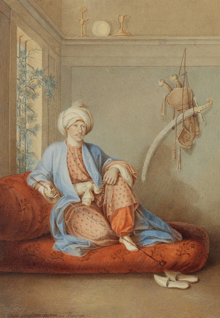 Painting of a Man in Ottoman Costume