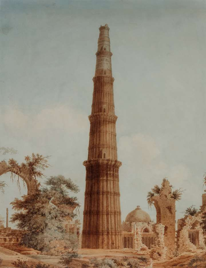 Painting of the Qutb Minar