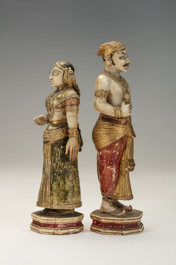 Pair of Indian Ivory Figures | MasterArt