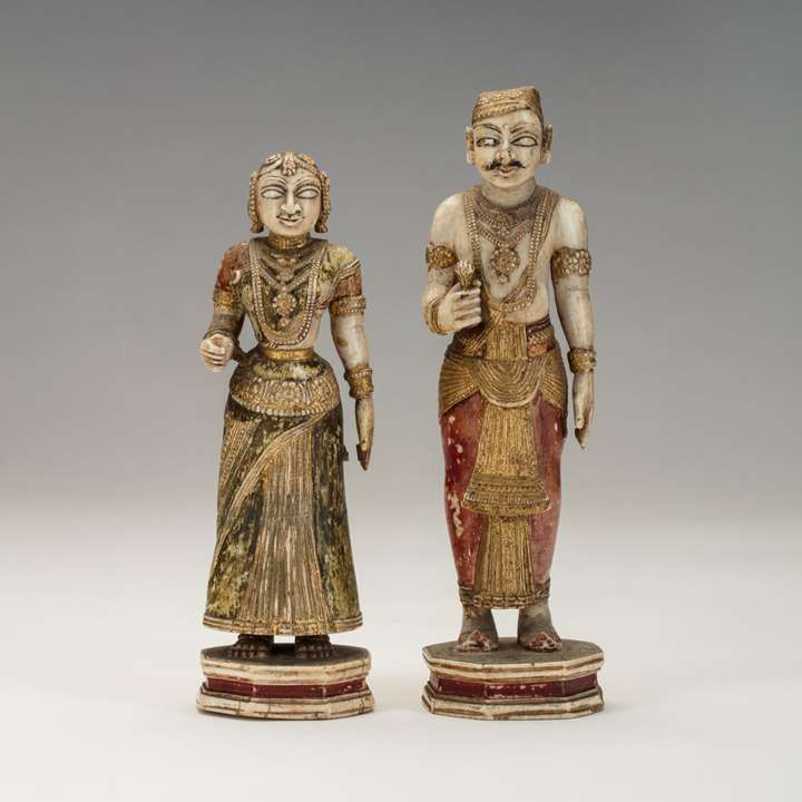 Pair of Indian Ivory Figures