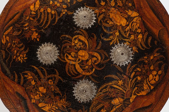 Pair of Lacquered Shields (Dhal) | MasterArt