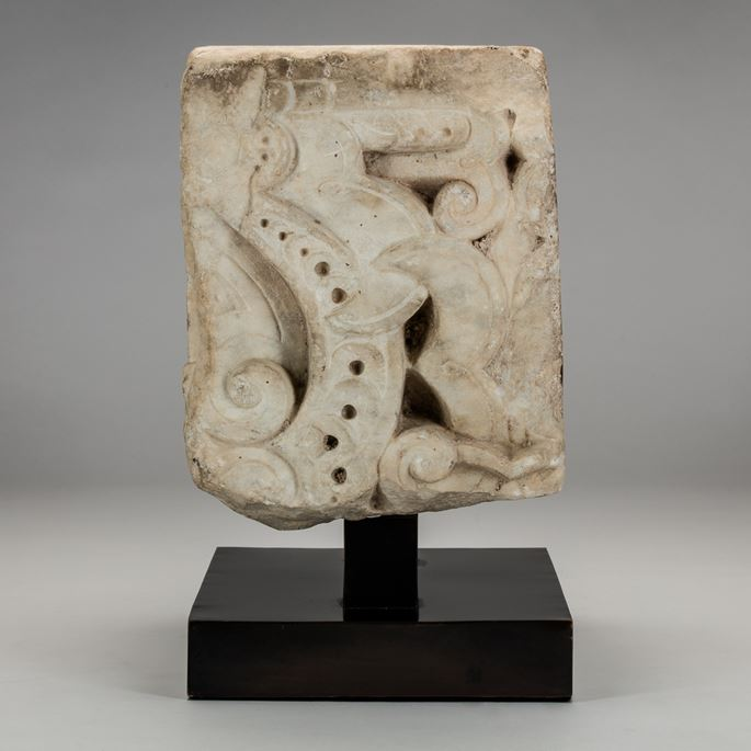 Pair of North African Marble Fragments | MasterArt