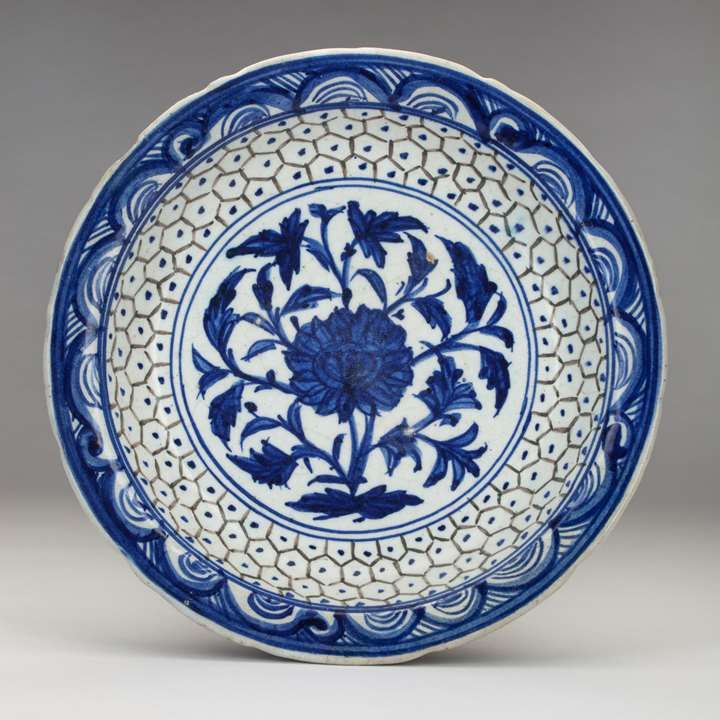 Persian Blue-and-White Dish