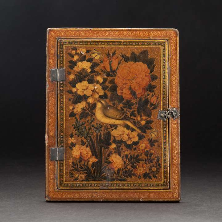 Qajar Lacquered Mirror Case