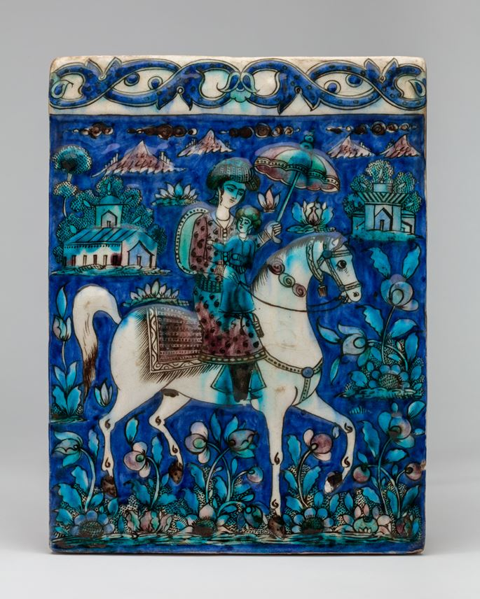 Qajar Tile with Horse and Rider  | MasterArt