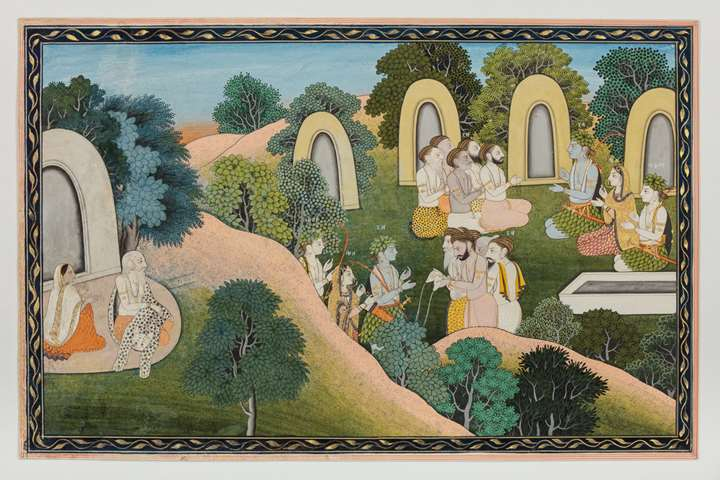 Rama, Sita and Lakshman at the Sage Atri's Ashram