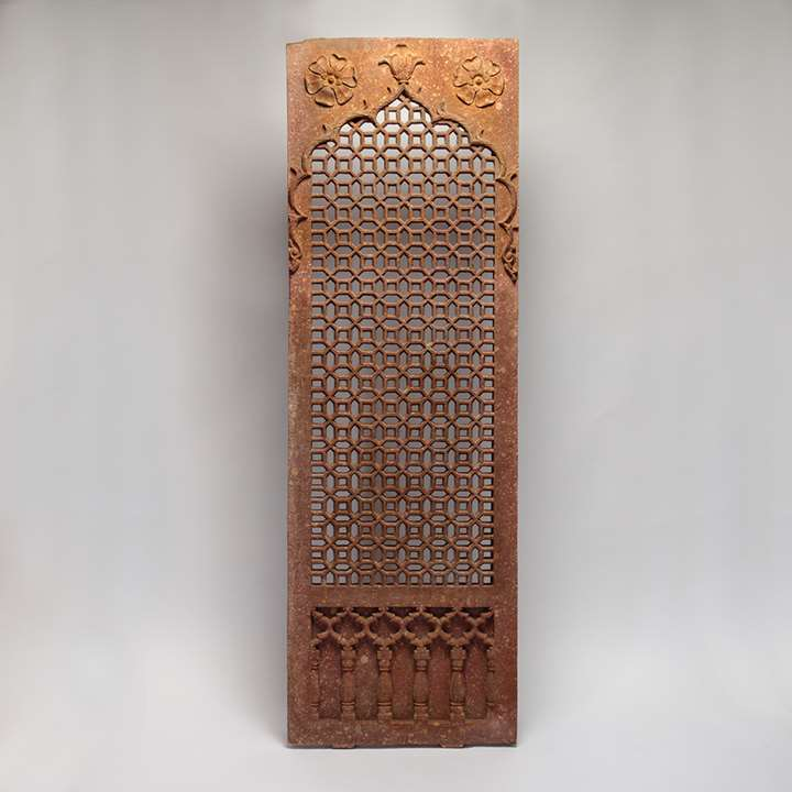 Red Sandstone Pierced Screen (Jali)