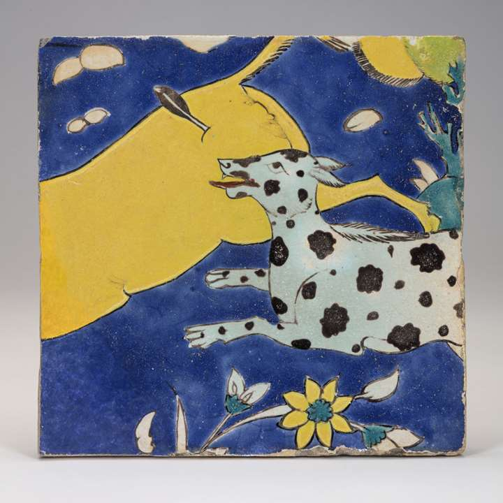 Safavid Tile with Animals