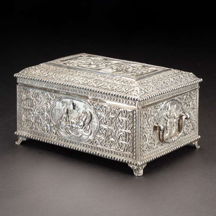 Silver Indian Box, Oomersi Mawji & Sons
