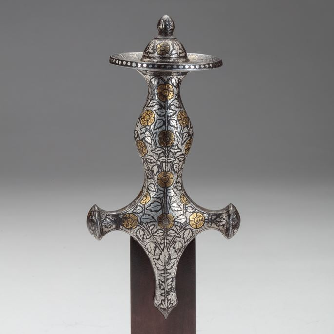 Silver Tulwar Hilt with Gold Overlay | MasterArt