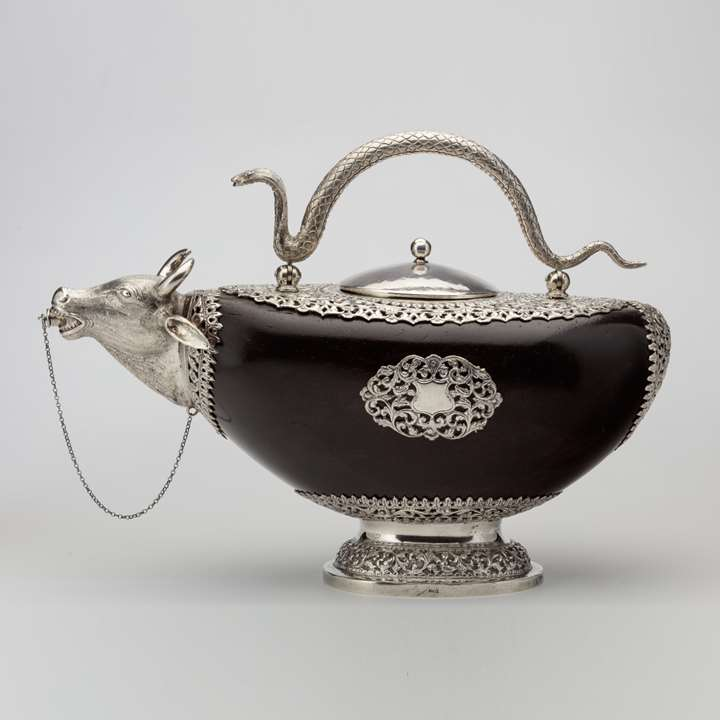 "Silver-Mounted Coco De Mer Kamandalu (""Pouring Vessel"")"