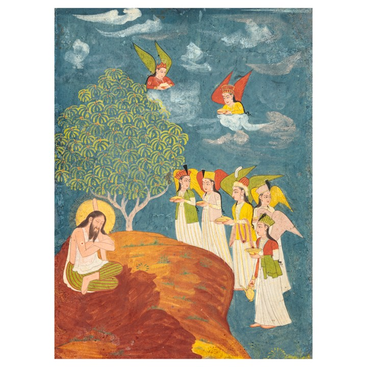 Sultan Ibrāhīm Ibn Adham Visited by Angels