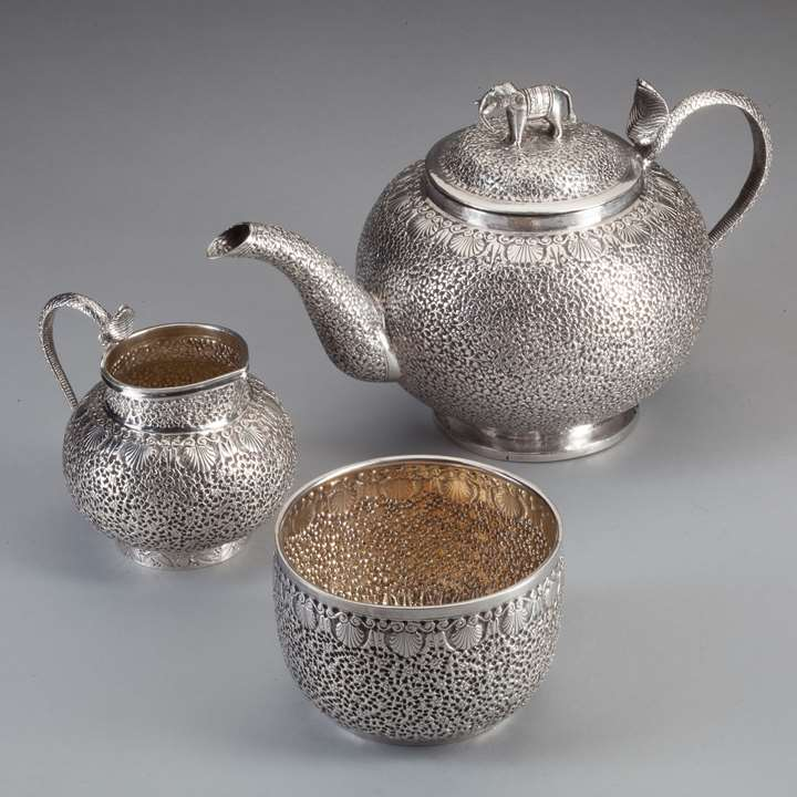 Three-Piece Silver Tea Set