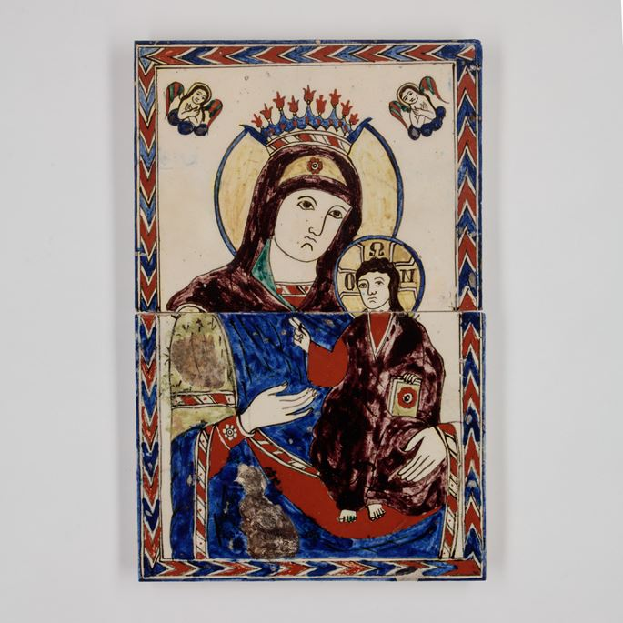 Tile Panel Depicting Virgin Mary and Child  | MasterArt