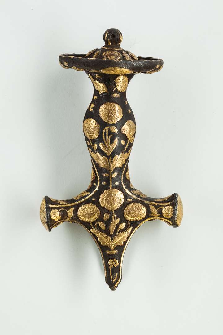 Tulwar Handle with Gold Overlay