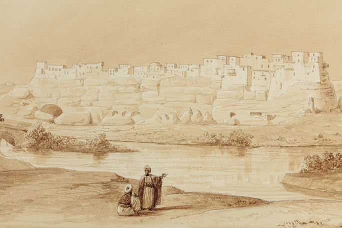 Charles Texier - View of Izadkhast Castle | MasterArt