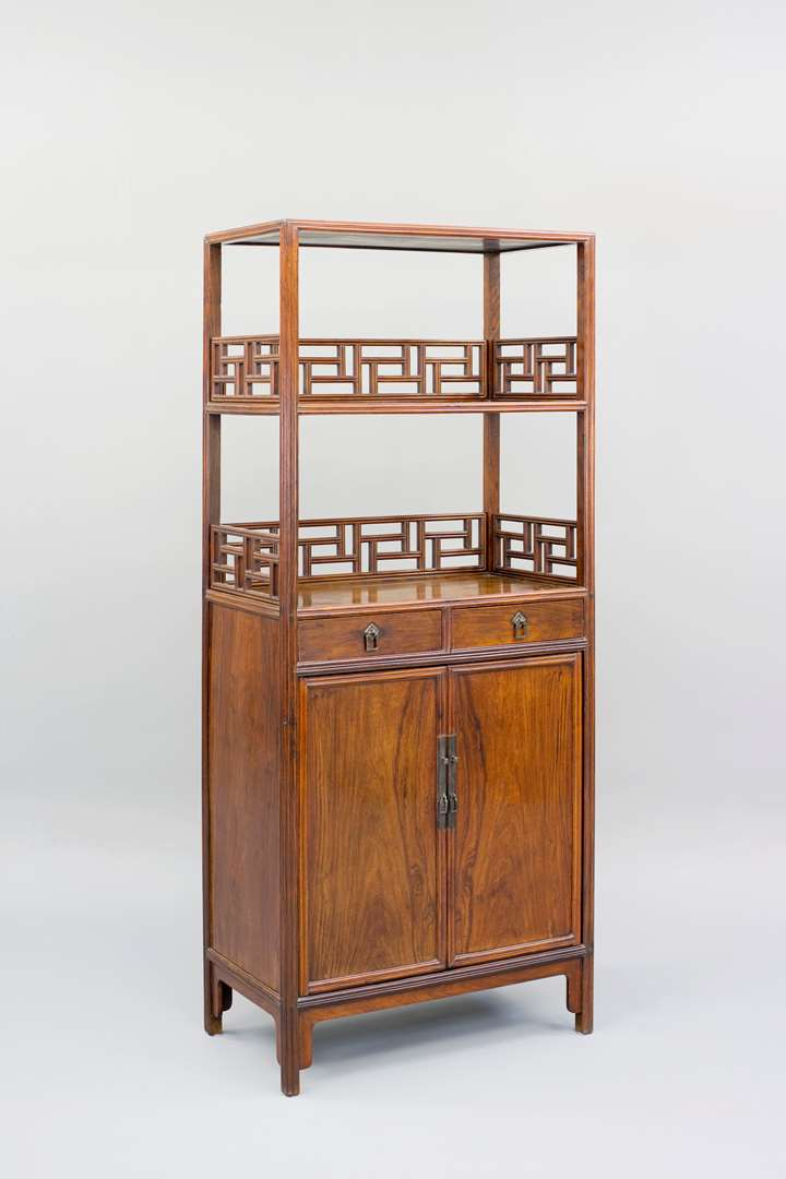 A Huanghuali Wood Book Cabinet