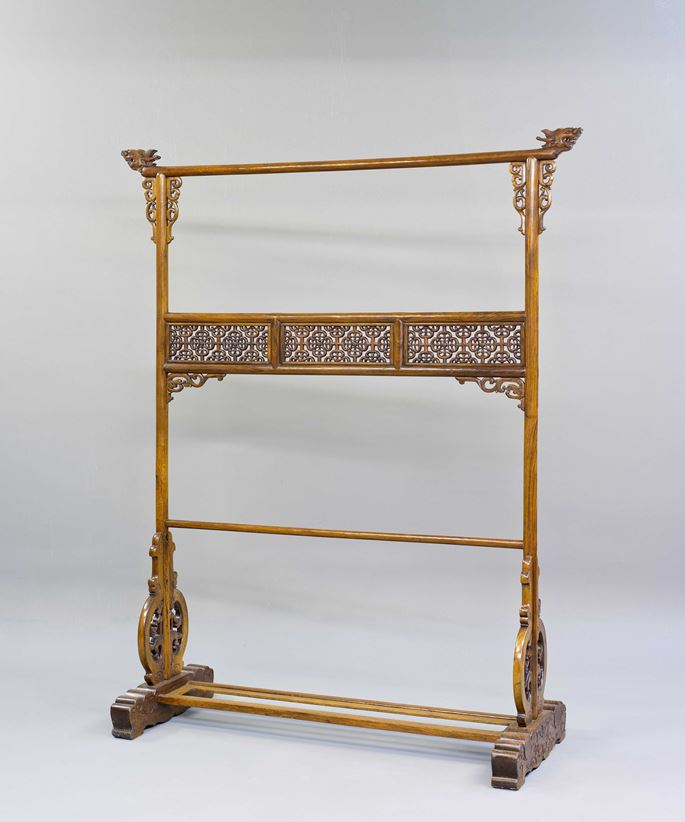 A Huanghuali Wood Cloth Rack | MasterArt